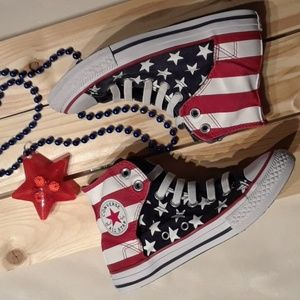 Chucks! Patriotic Converse Red, White & Blue!